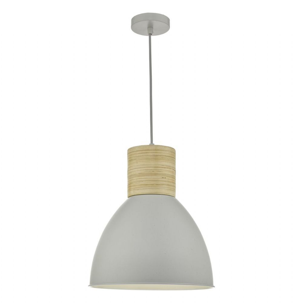 Adna Pendant Grey & Wood (double insulated) BXADN0139-17